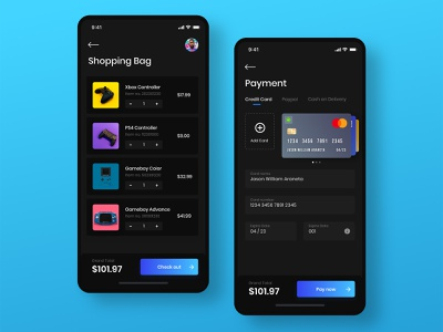 Daily UI #2 - Credit Card Check Out shopping bag uidesign daily ui 002 checkout payment credit card design ux uiux ui daily ui challenge dailyui app design app