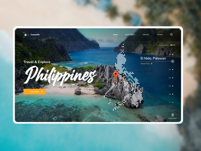 Landing Page - Daily UI #3 home screen homepagedesign homepage landingpage philippines tourism tour travel website design webdesign website daily ui 003 design ux uiux ui daily ui challenge dailyui