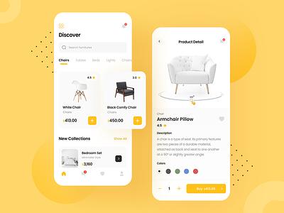 Furniture App chairs furniture mobile design app design app ux uiux ui