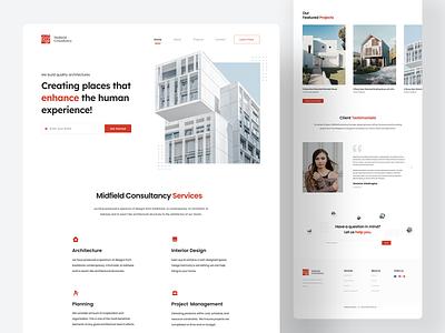 Architecture - Landing Page trend 2021 trendy design minimalism architecture web interface interface design uiux ui landing page website website design home page landing page design uipage webdesign