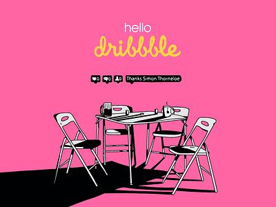Hello, Dribbble! social graphic illustration hello