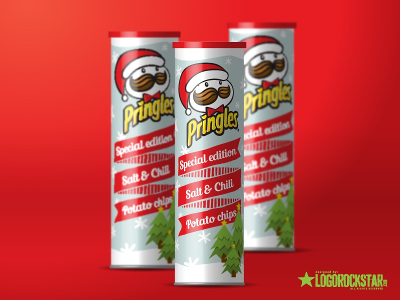 Pringles christmas packaging project by LogoRockStar on Dribbble