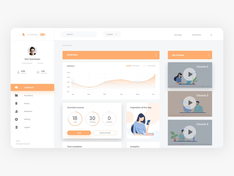 LMS E-learning platform - AOD lms platform design elearning illustration design app ux ui