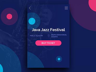 Java Jazz Ticket App UI Design cool design cool app material ticket app app android ux design ui design
