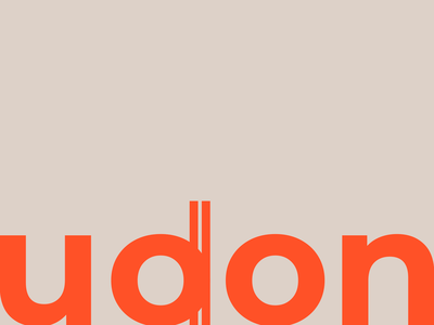 Udon logo concept chopsticks logo udon