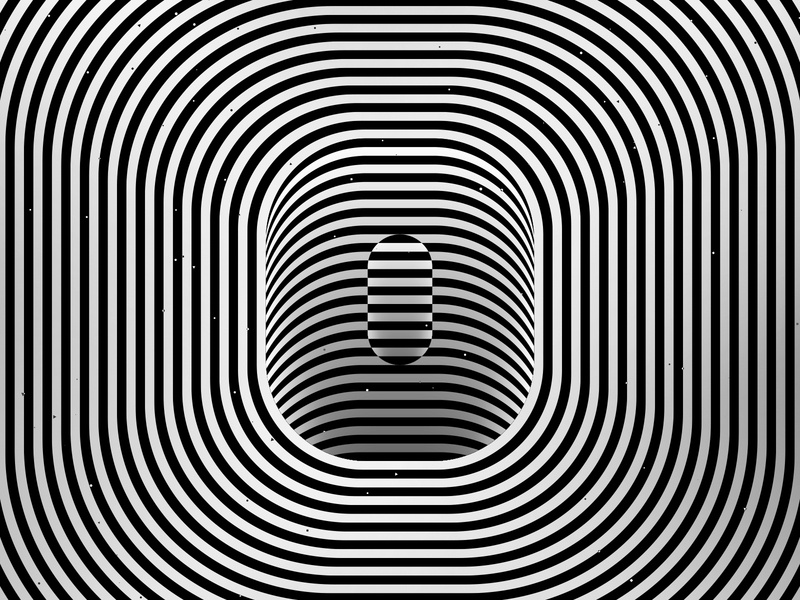 Letter O, 36daysoftype 2020 trippy visual effect abstract geometry geometric abstraction optical illusion op art geometrical type black white striped lines hypnotic kinetic typography graphic design opart letter o 36days 36daysoftype-o 36daysoftype07 36daysoftype