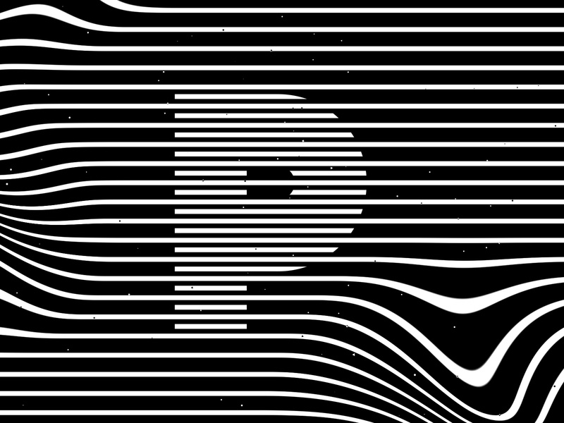 Letter P, 36daysoftype 2020 trippy visual effect abstract geometry geometric abstraction optical illusion op art geometrical type black white striped lines hypnotic kinetic typography graphic design opart letter p 36days 36daysoftype-p 36daysoftype07 36daysoftype