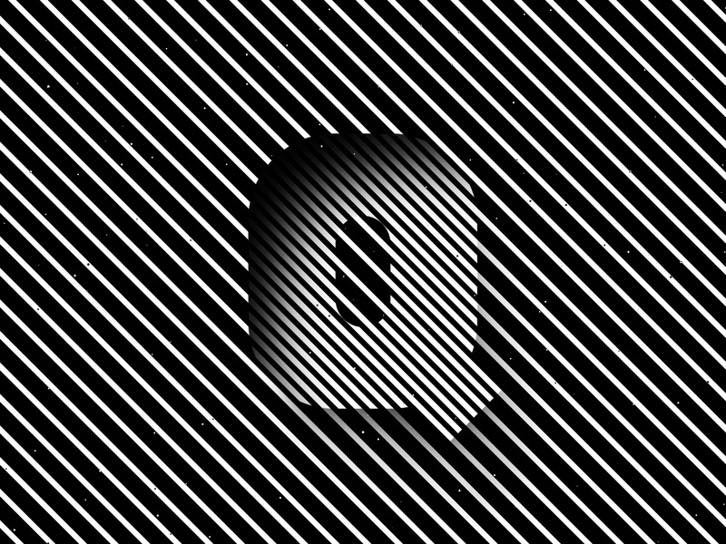 Letter Q, 36daysoftype 2020 trippy visual effect abstract geometry geometric abstraction optical illusion op art geometrical type black white striped lines hypnotic kinetic typography graphic design opart letter q 36days 36daysoftype-q 36daysoftype07 36daysoftype
