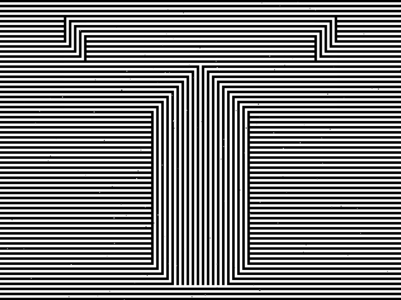 Letter T, 36daysoftype 2020 trippy visual effect abstract geometry geometric abstraction optical illusion op art geometrical type black white striped lines hypnotic kinetic typography graphic design opart letter t 36days 36daysoftype-t 36daysoftype07 36daysoftype
