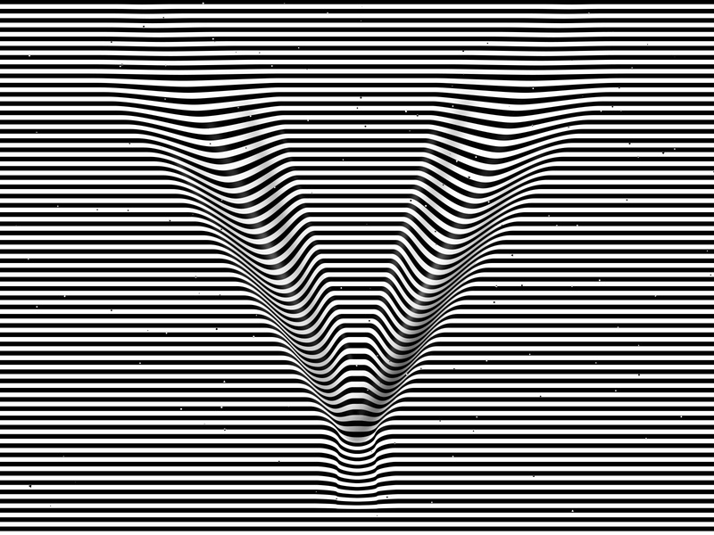 Letter V, 36daysoftype 2020 trippy visual effect abstract geometry geometric abstraction optical illusion op art geometrical type black white striped lines hypnotic kinetic typography graphic design opart letter v 36days 36daysoftype-v 36daysoftype07 36daysoftype
