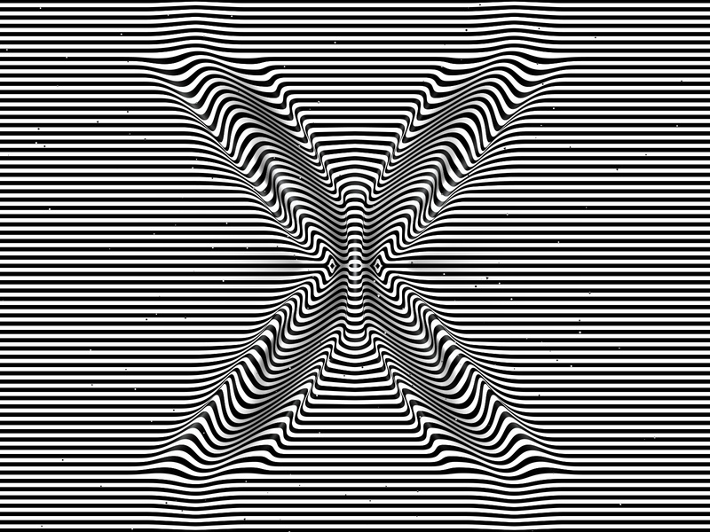 Letter X, 36daysoftype 2020 trippy visual effect abstract geometry geometric abstraction optical illusion op art geometrical type black white striped lines hypnotic kinetic typography graphic design opart letter x 36days 36daysoftype-x 36daysoftype07 36daysoftype