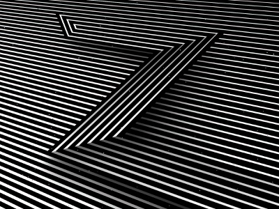 Letter Z, 36daysoftype 2020 trippy visual effect abstract geometry geometric abstraction optical illusion op art geometrical type black white striped lines hypnotic kinetic typography graphic design opart letter z 36days 36daysoftype-z 36daysoftype07 36daysoftype