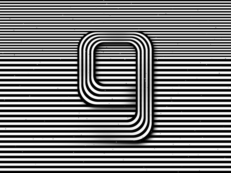 Number 9, 36daysoftype 2020 trippy visual effect abstract geometry cosmic abstraction optical illusion op art geometrical type black white striped number hypnotic kinetic typography graphic design opart letter 9 36days 36daysoftype-9 36daysoftype07 36daysoftype