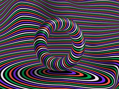 """Letter """"O"""", 36daysoftype 2021 abstract distortion psychedelic abstraction trippy visual effect optical illusion op art geometrical type color striped hypnotic kinetic typography graphic design opart 36days 36daysoftype08 36daysoftype letter o 36daysoftype-o"""