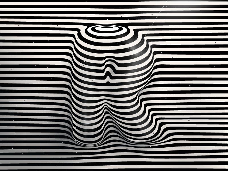 Black And White Art Designs On Letter R