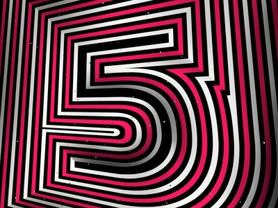 Number «5» /36daysoftype