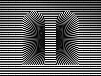 Infinity tunnel tunnel architecture striped minimal kinetic geometric illustration optical illusion op art black white graphic design visual effect