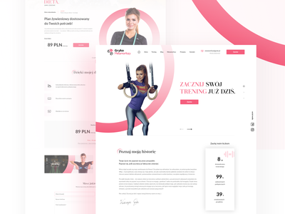 Gryko -  personal trainer sport trainer personal training 2k20 website design design website webdesign ux uiux ui project