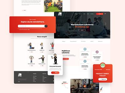 AgileRebels🚀 training learning learning platform obn website design website webdesign ux uiux design ui project