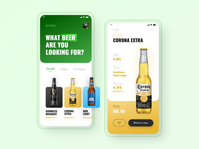 BeerApp🍻 ux design app beer app app design uiux design ui project