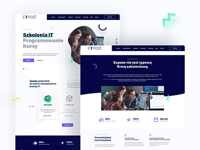 Expose - IT training💻 aftereffects animation training website design website webdesign ux uiux design ui project