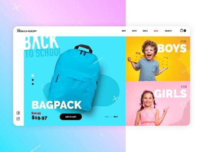 eShop / Back to school — UI animations concept