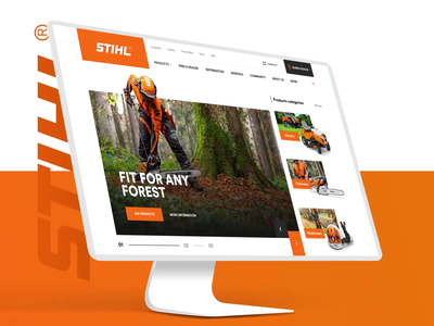 STIHL Redesign Concept ecommerce design forest cut project 2k19 new website design aftereffects animation design website webdesign ux uiux ui redesign concept redesign