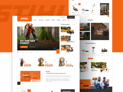 STIHL Redesign concept - Home forest tools motiondesign motion fullscreen home aftereffects animation design website webdesign ui ux uiux project concept redesign stihl