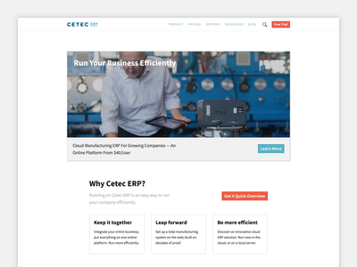 New Site for Cetec ERP responsive scss jekyll website