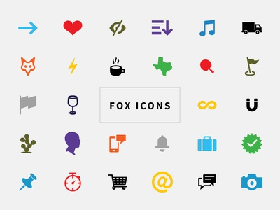 Fox Icons icon set open source svg icons