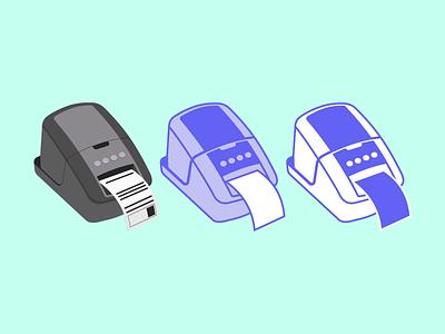 Label Printer - Style Exploration illustration