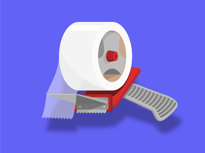 Tape - style exploration illustration