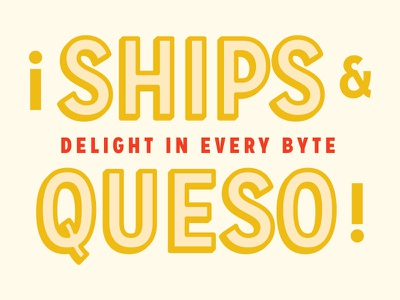 Ships And Queso Letters lettering queso
