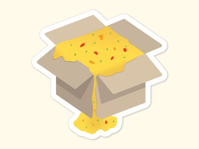 Ships And Queso Sticker box sticker queso