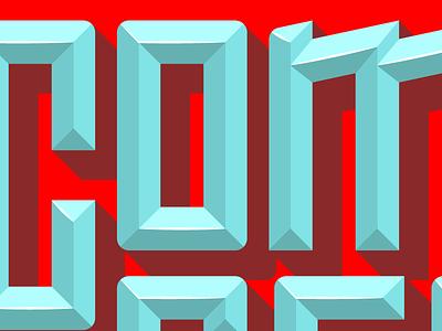 Common Sense & Urgency Lettering chiseled gem lettering