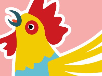 Rooster dribbble