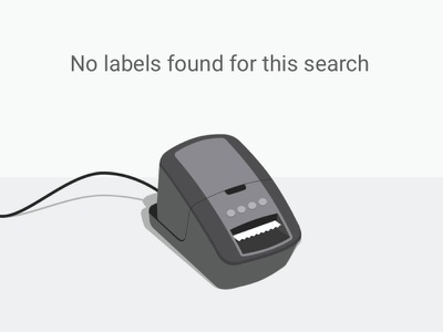 No Labels Found ux ui modal filter search illustration zero state empty state