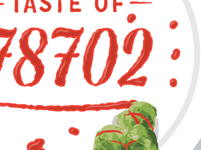 Sriracha Lettering - Taste Of 78702 plate sriracha brussels sprouts food lettering