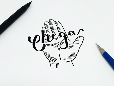 Chega portugues typography expressoesbrasileiras hand-type lettering handmadefont brasil type design