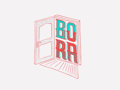 Bora bora illustration colors designs identity hand-type portugues typography expressoesbrasileiras brasil handmadefont lettering type design