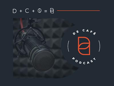 DeCafePodcast logomarca podcast logo identidade visual graphicdesign branding concept decafepodcast podcast branding design brand identity branding logo design