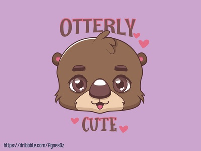 Otterly cute pun design