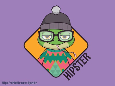 Hipster frog design