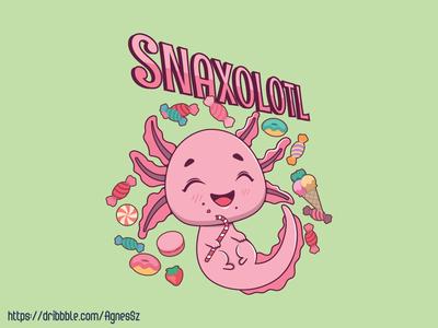 Snaxolotl pun design