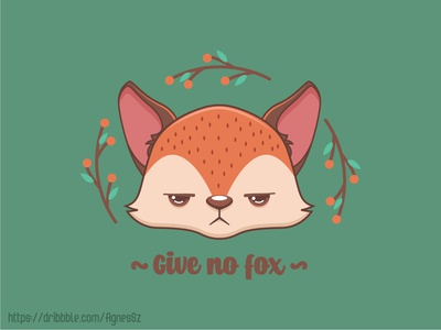 Give no fox pun design