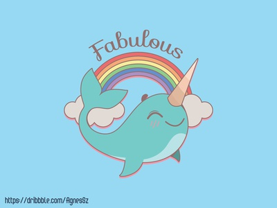 Fabulous sea unicorn design