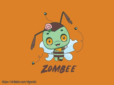 Zombee pun design