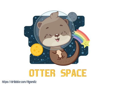 Otter space pun design