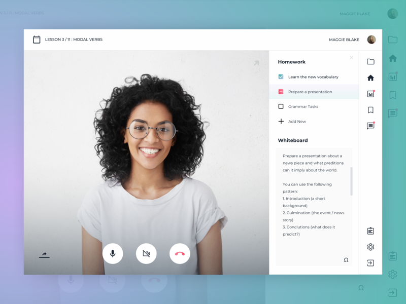 Video Chat English Lesson by Katja Kamjanets on Dribbble