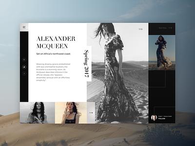 Alexander McQueen Tribute slider photo gallery outfits collection magazine ciedenwui weeklyui photoshoot tasteful fashoin